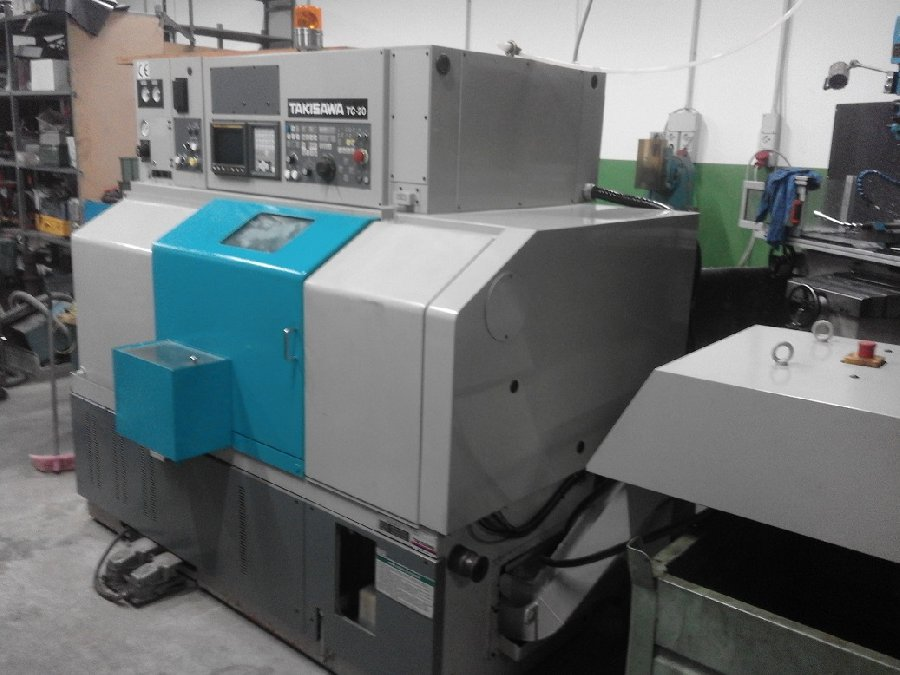 Tour CNC avec outils fixes Takisawa TC 20 d'occasion |Makinate | Makinews !Used industrial machines